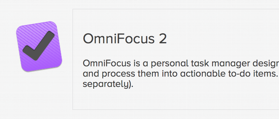 Customers who purchased an OmniFocus 1 license from the Omni Store are eligible for a 50% discount when upgrading to the Pro or Standard edition of OmniFocus 2. Upgrade pricing on our store is $ for OmniFocus 2 Pro, and $ for OmniFocus 2 Standard. For .