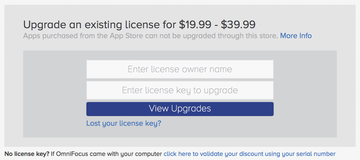 Upgrade an existing license