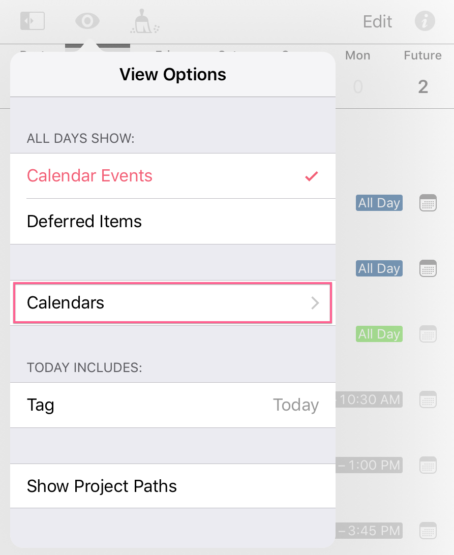 Showing and hiding calendars in the Forecast view - Support - The