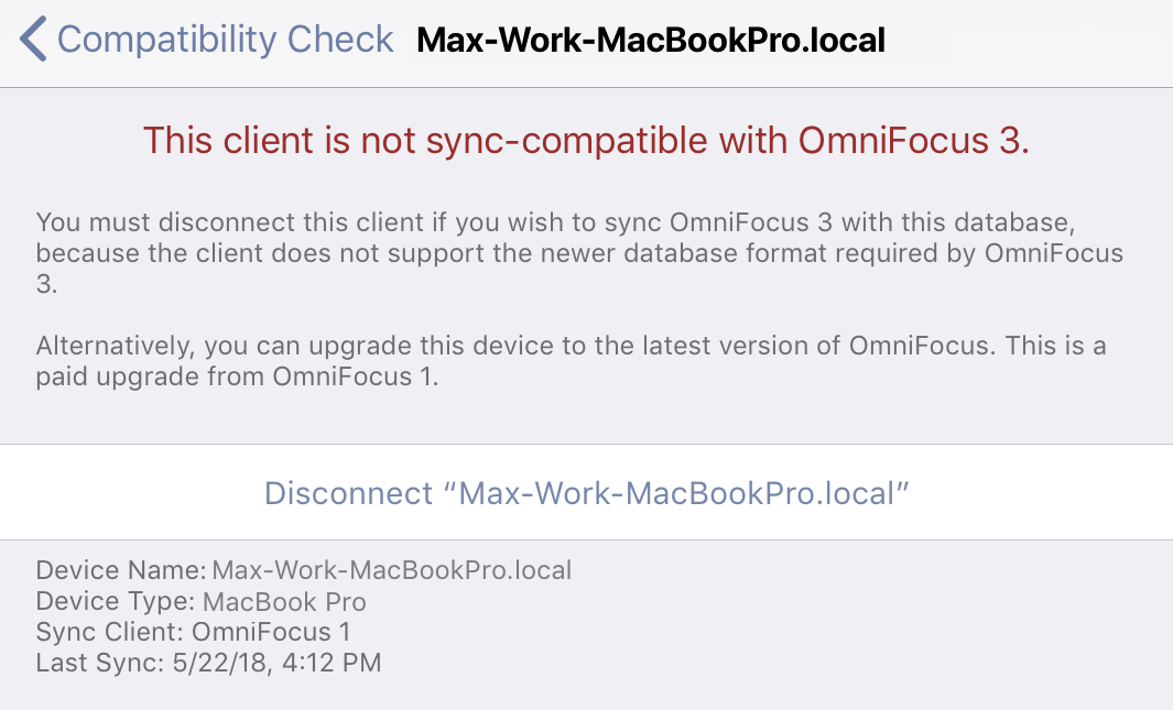 Syncing with OmniFocus 1