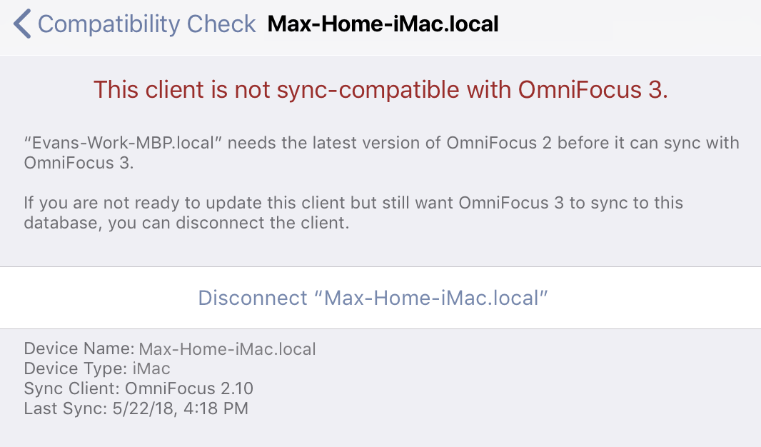Syncing with OmniFocus 2