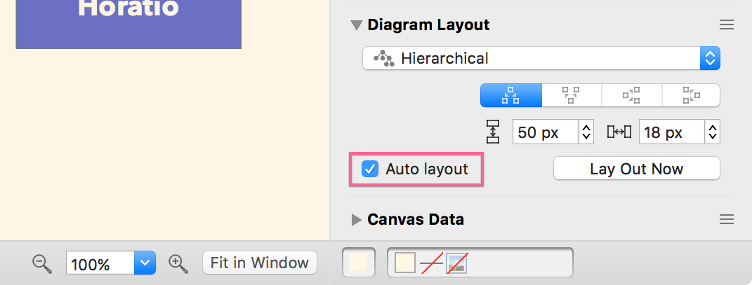 Turning off automatic layout in OmniGraffle - Support - The Omni Group
