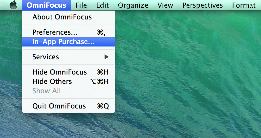 OmniFocus In-App Purchase