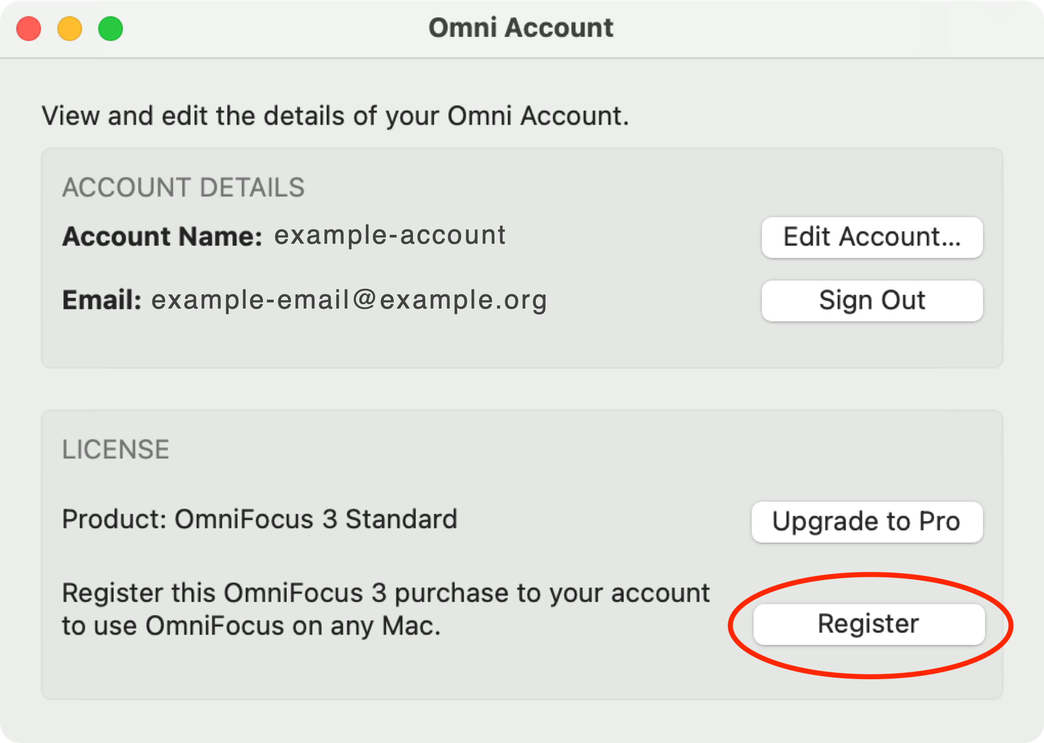 OmniFocus 3 Unregistered In-App Purchase