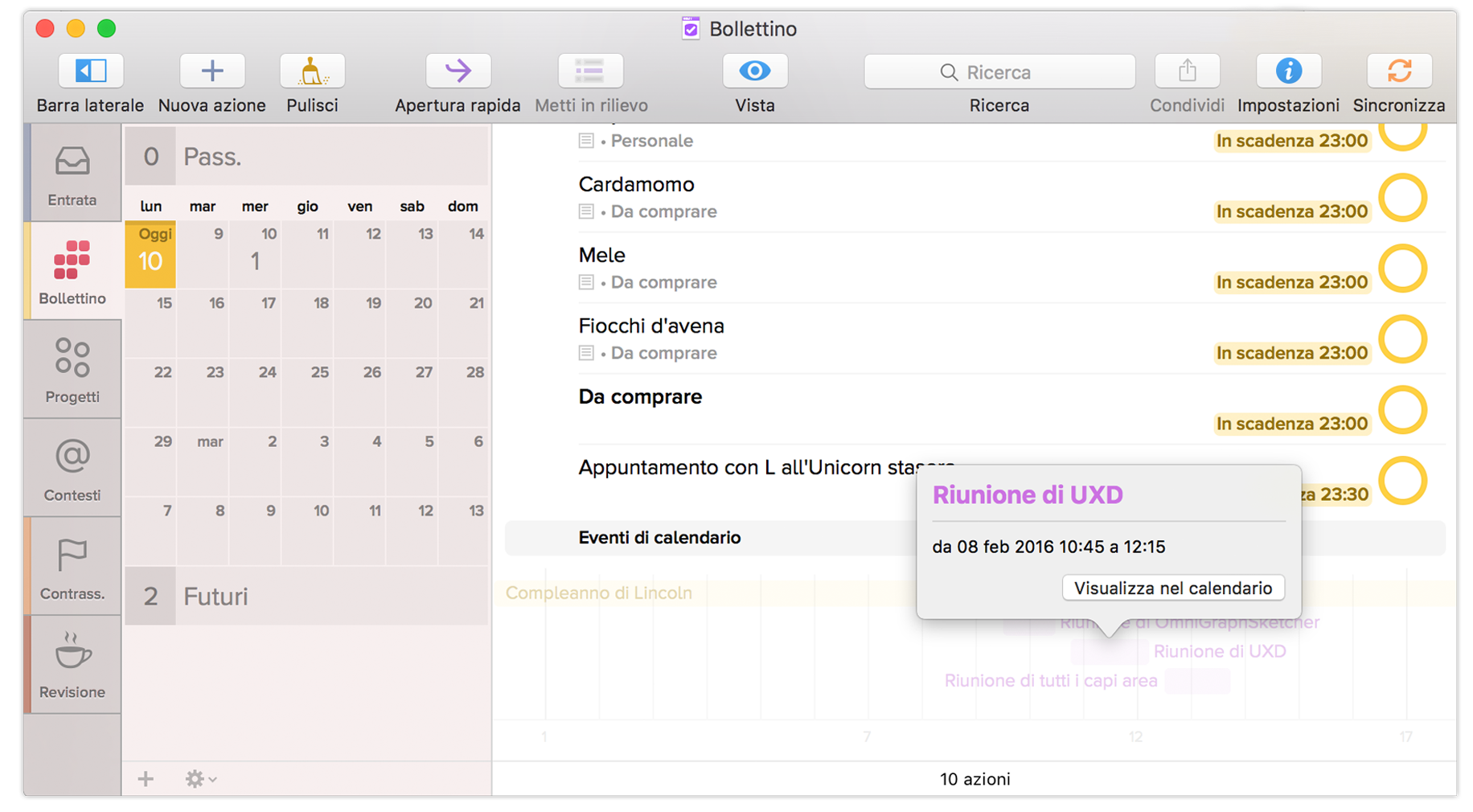 Visualizza Calendario.Manuale Dell Utente Di Omnifocus 2 Per Mac Bollettino