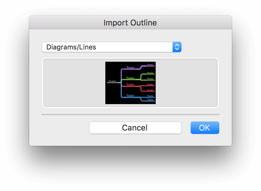 Opening and Importing Files in OmniGraffle