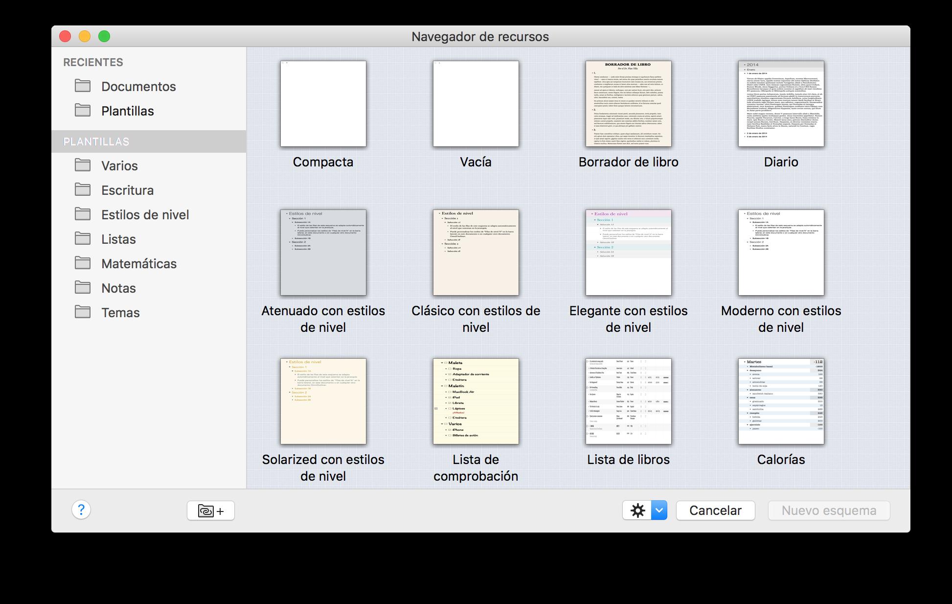 Manual del usuario de OmniOutliner 4.5.3 para Mac -- Uso del ...