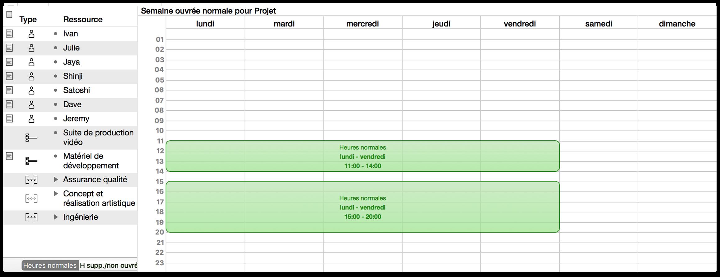 Calendrier De Travail.Manuel De L Utilisateur Omniplan 3 Pour Mac Utilisation De