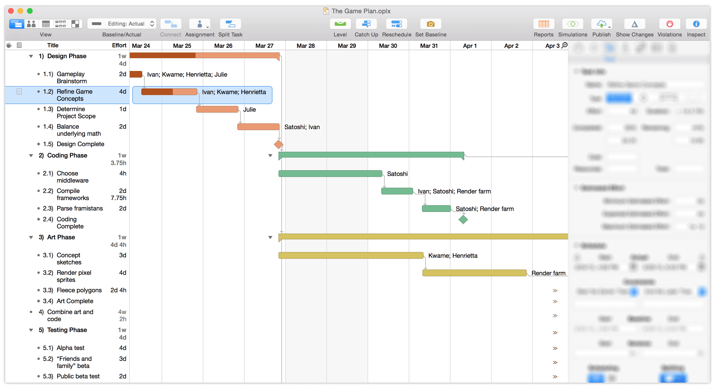 OmniPlan 3.5 for Mac User Manual — Getting to Know OmniPlan