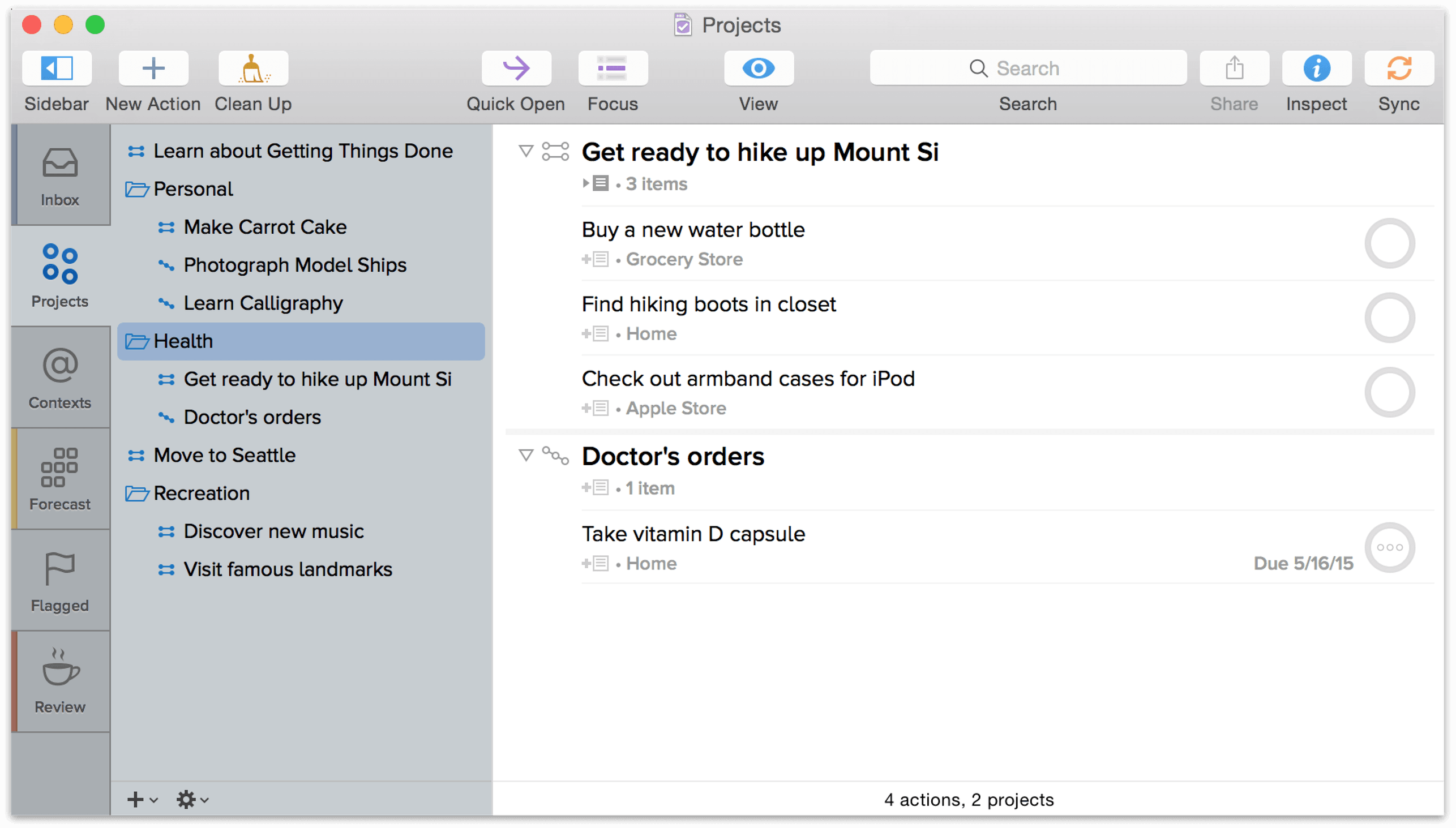 OmniFocus 2 for Mac User Manual - Projects