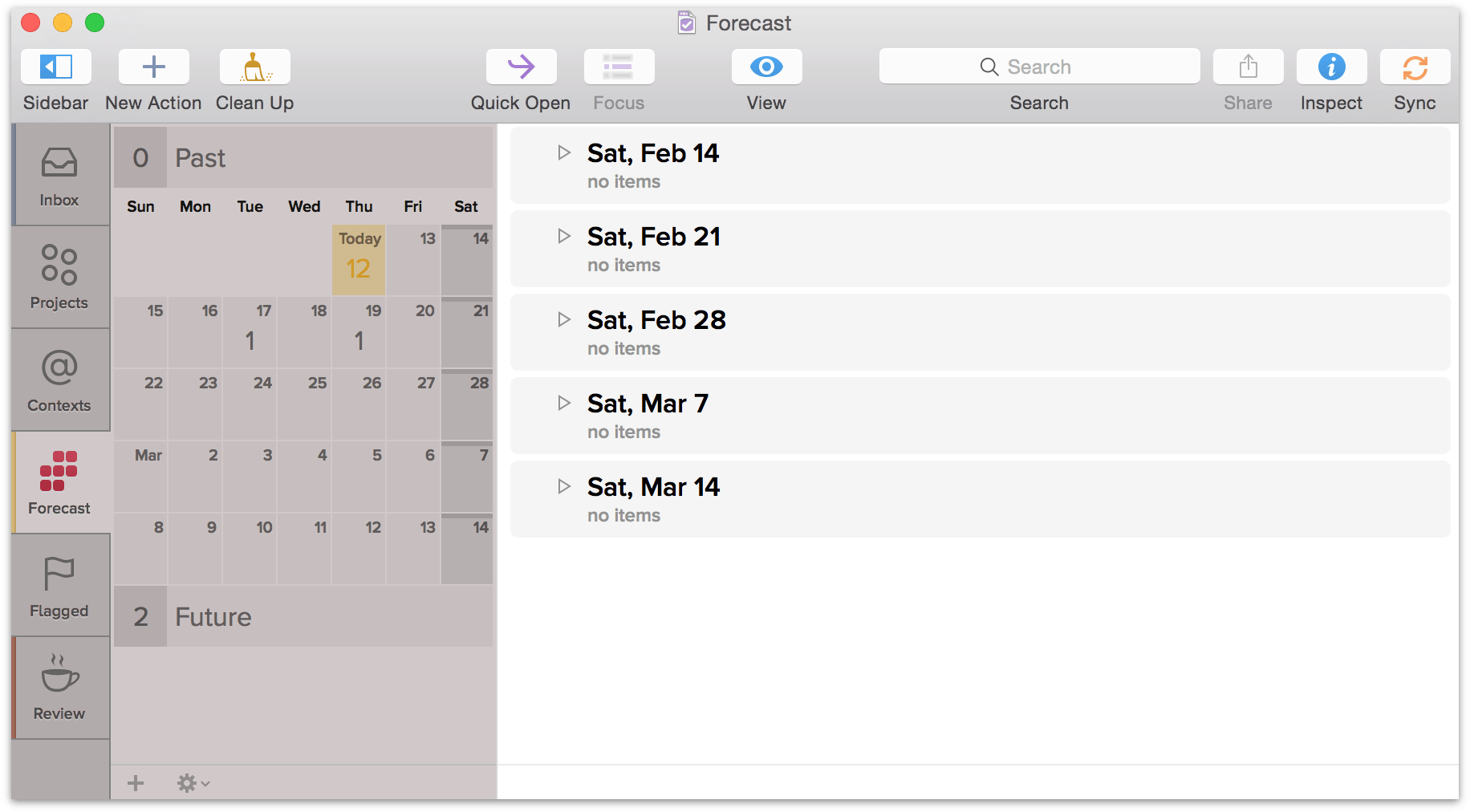 Command-click the dates you want so you can see what's happening on those days