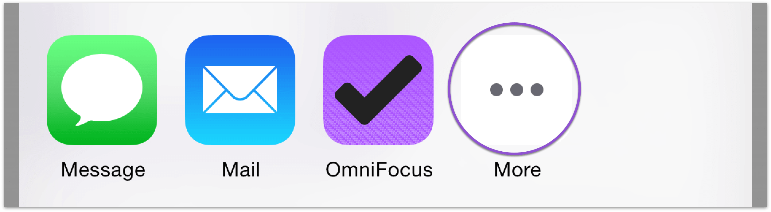 Sharing to OmniFocus for iOS.