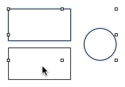使用 Command 键选择或取消选择多个对象