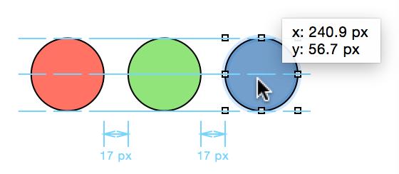 智能对齐方式参考线和智能距离参考线帮助您在版面上四处移动对象时对齐对象