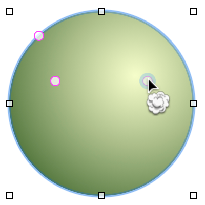 按住 Shift 或 Option 键,然后点按磁化物以将其从对象中移除