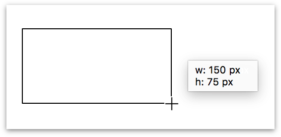 Drawing a rectangle on the canvas using the Shape tool
