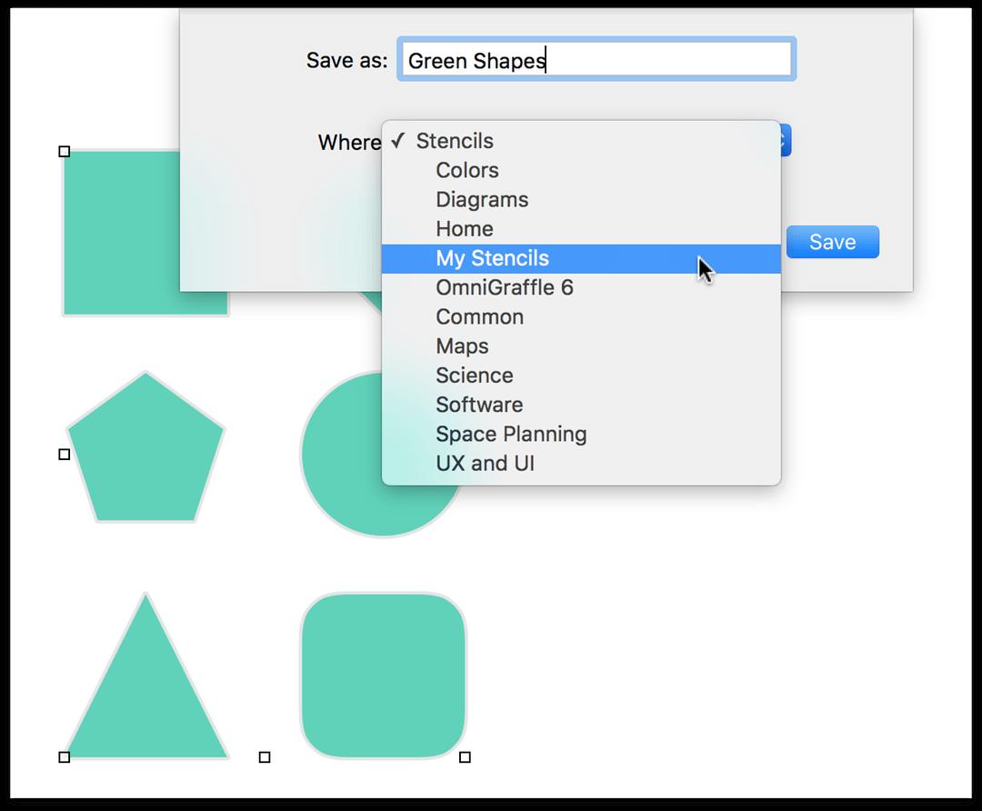 saving a stencil file to the stencils folder - Omnigraffle Library