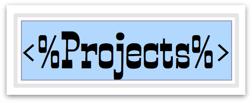 The Projects variable with the style changed in the Font inspector