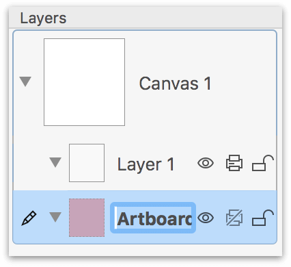 Adding an Artboard Layer to the project places it underneath Layer 1
