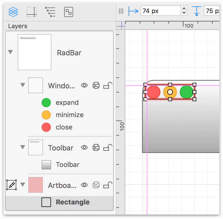 Wrapping objects in an artboard