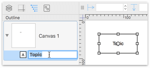 "A new Topic object is created on the canvas after clicking ""Click to Add a topic"""