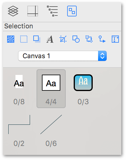 Use the Contents inspector to select similar objects