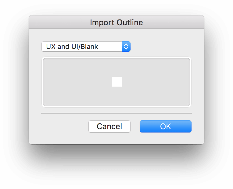 The Import Outline dialog box.