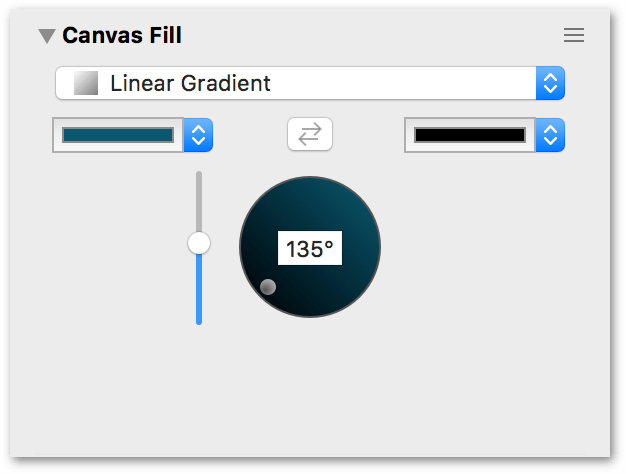 The Canvas Fill inspector