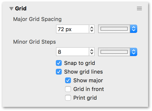 The Grid inspector
