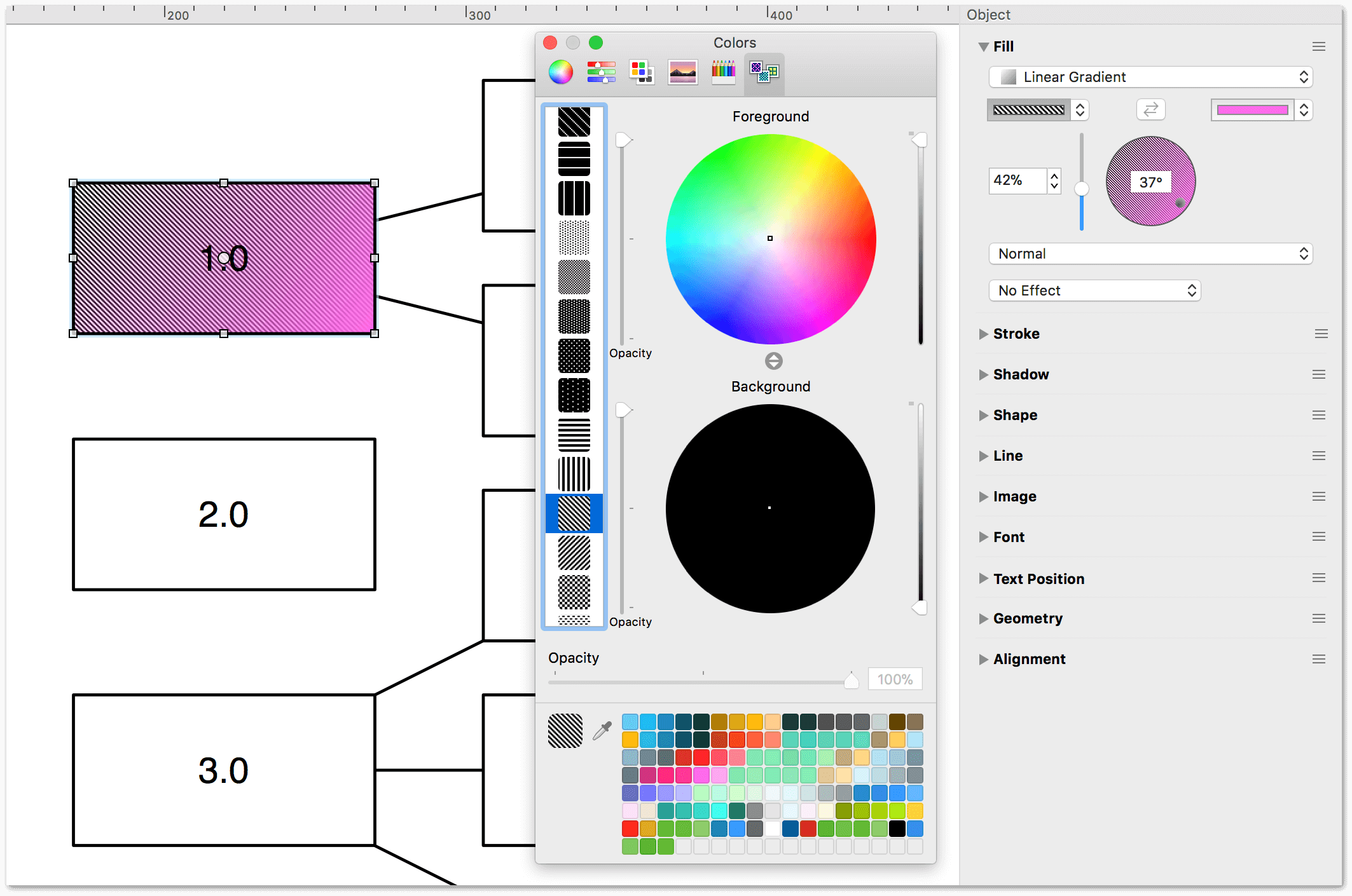 The pattern palette