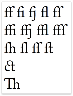 Characters with the Use All ligature setting applied