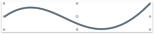 The line shape after conversion