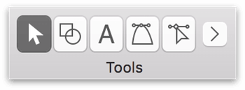 The abbreviated Tool Palette after changing the ordering in the Drawing Tools preference panel