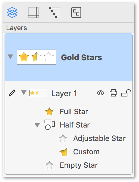 Organize the order of your stencils in the Sidebar