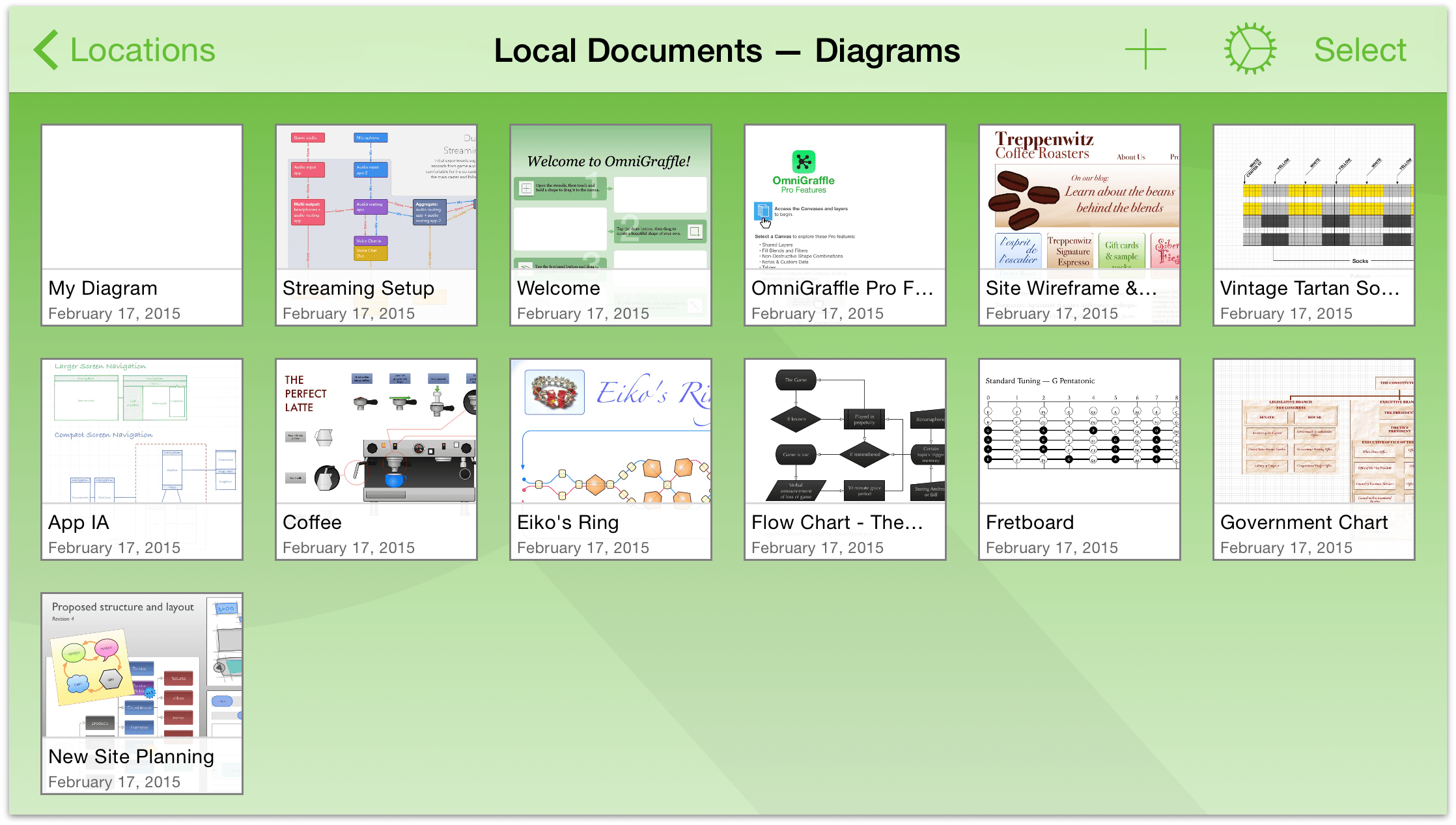 OmniGraffle 2 2 for iOS User Manual - Managing Files with