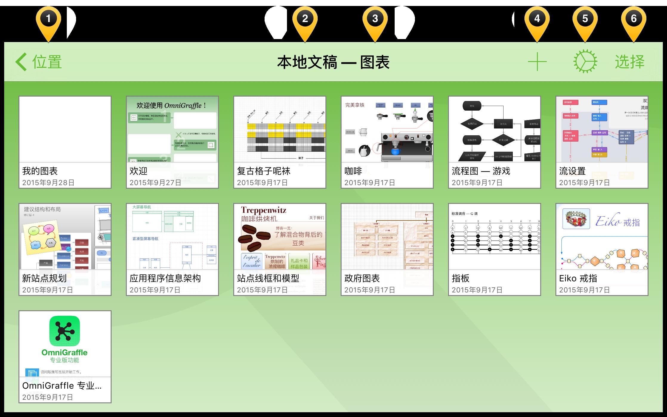 高亮显示文稿浏览器导航栏中的不同元素
