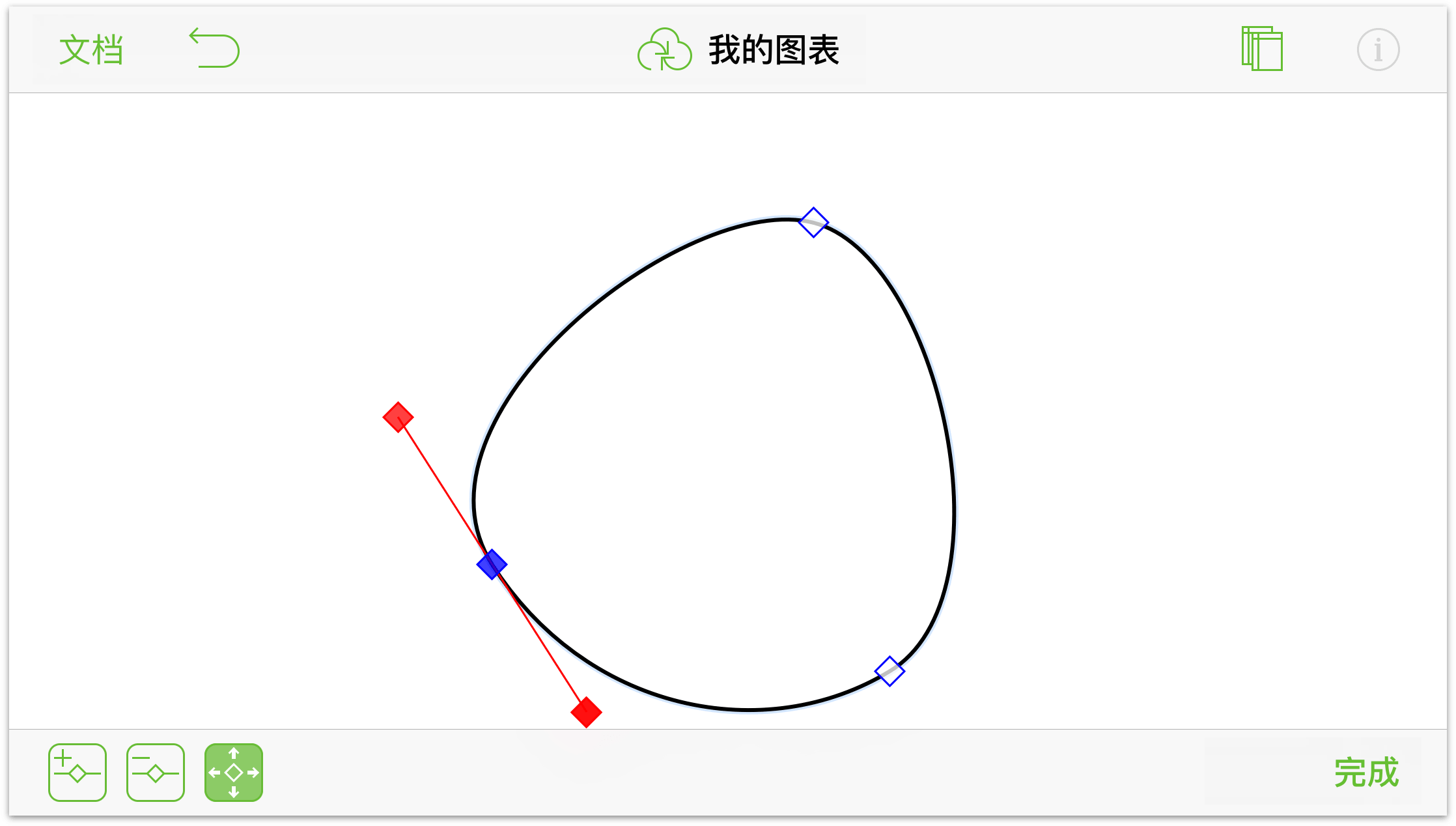 顶点转换成曲线的三角形