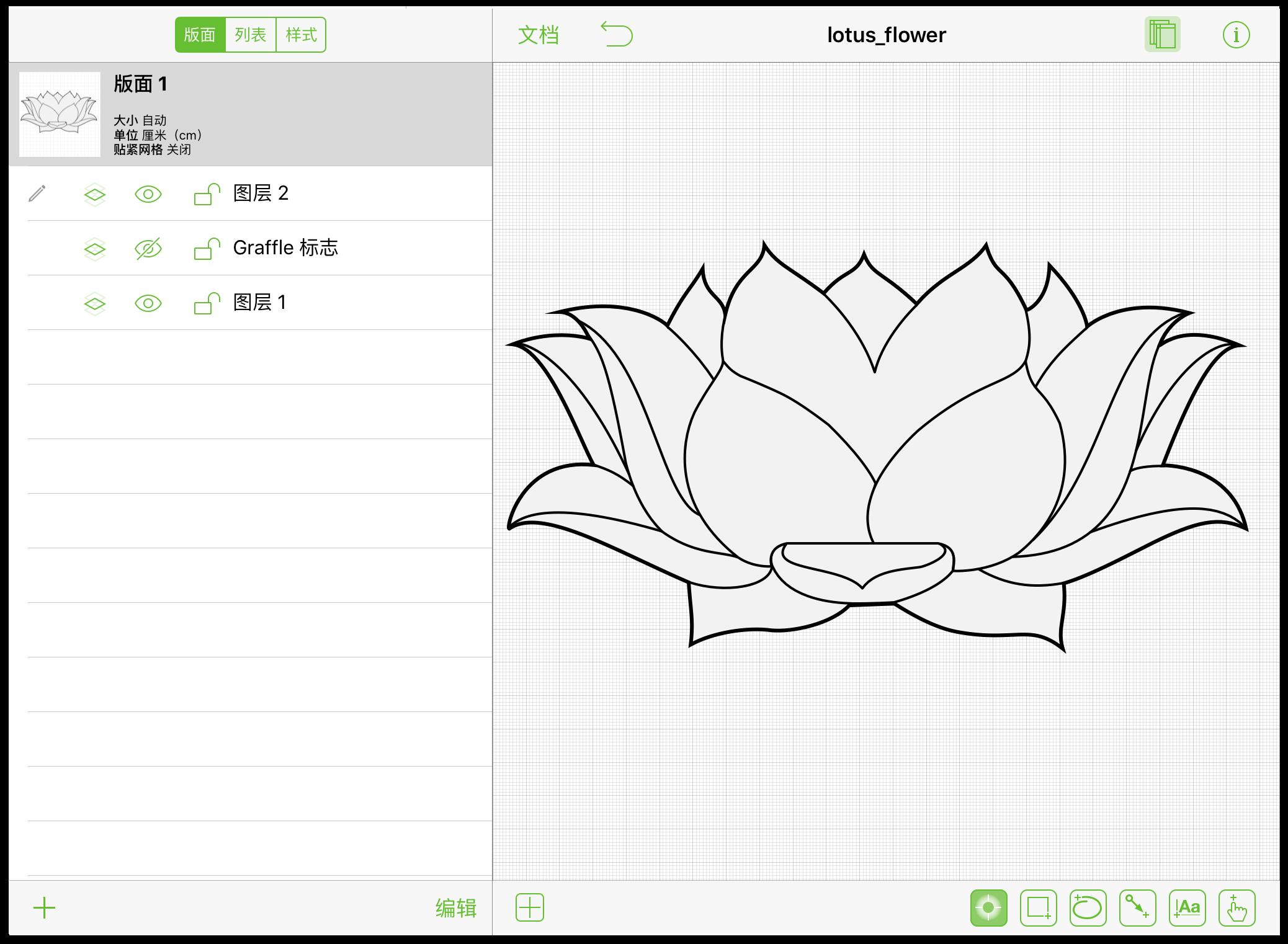 iPad 上的 OmniGraffle