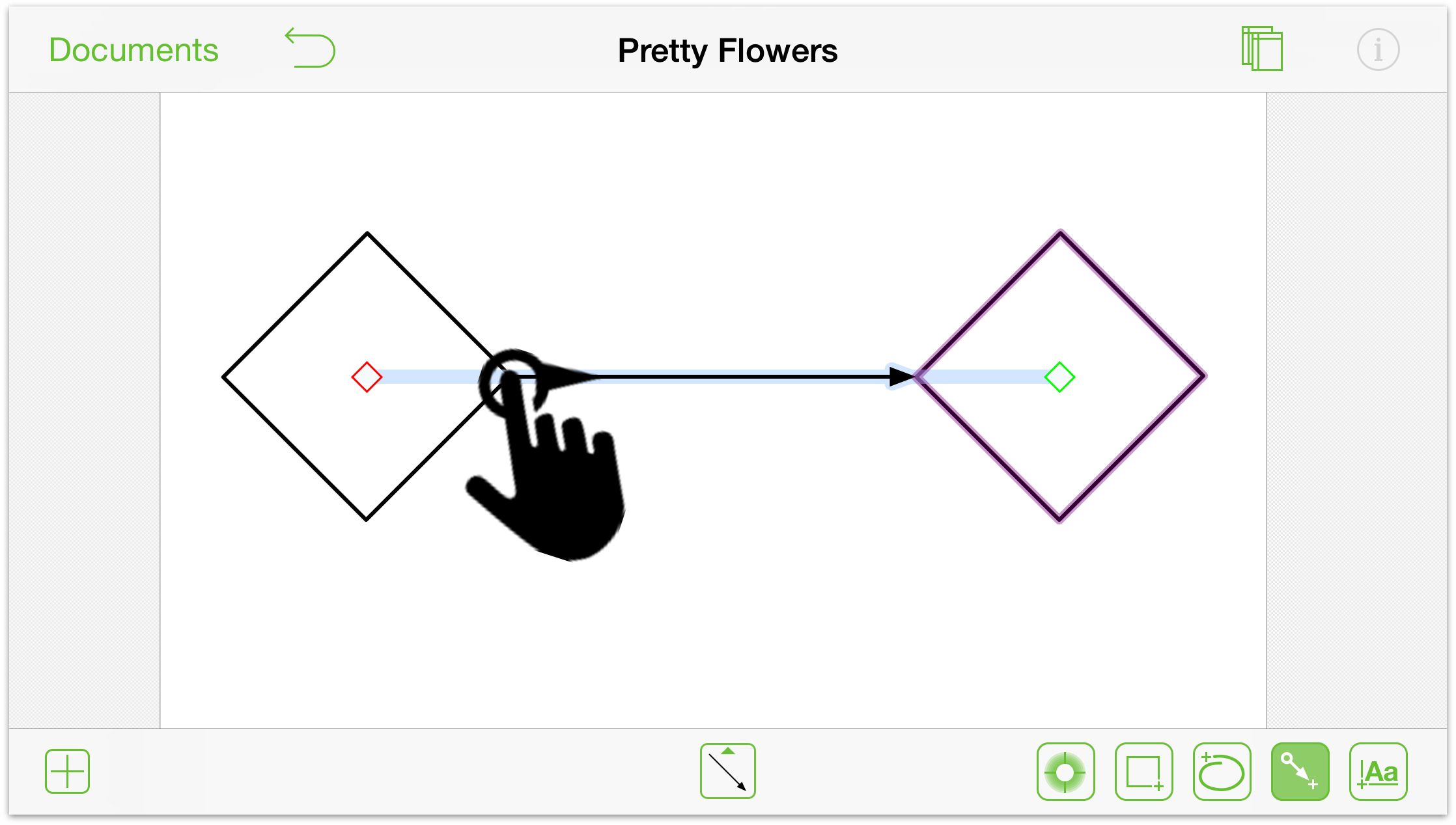 Drawing Lines In Omnigraffle : Omnigraffle for ios user manual the many gestures of