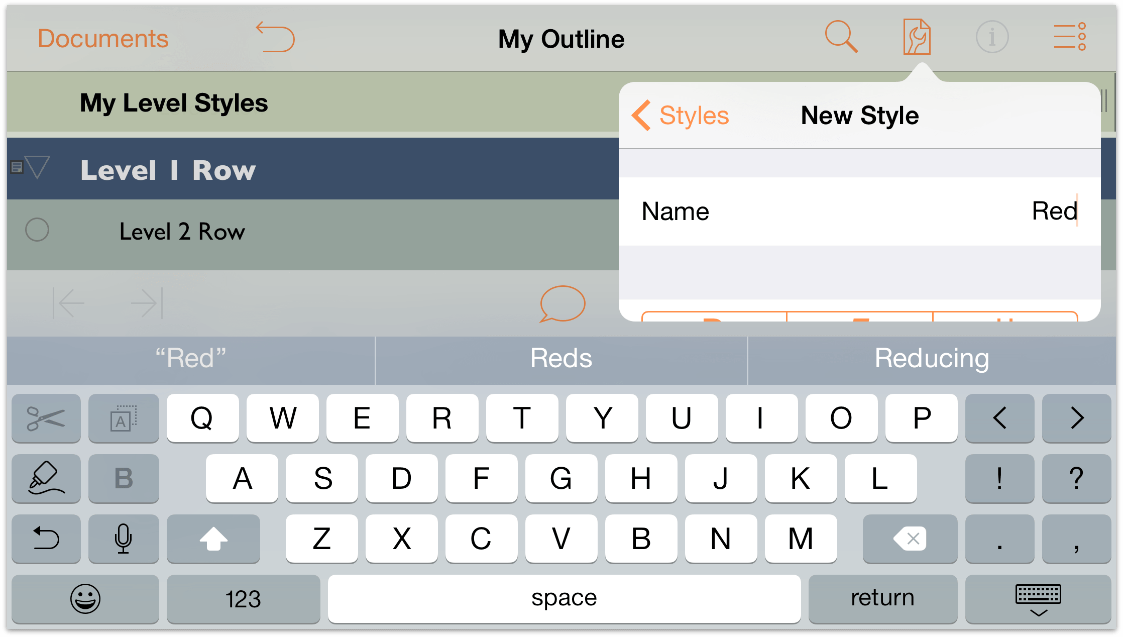 omnioutliner templates - omnioutliner for ios user manual working with
