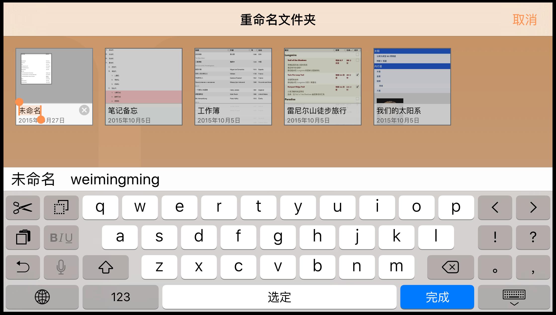 为新文件夹起一个能准确描述其内容的名称。