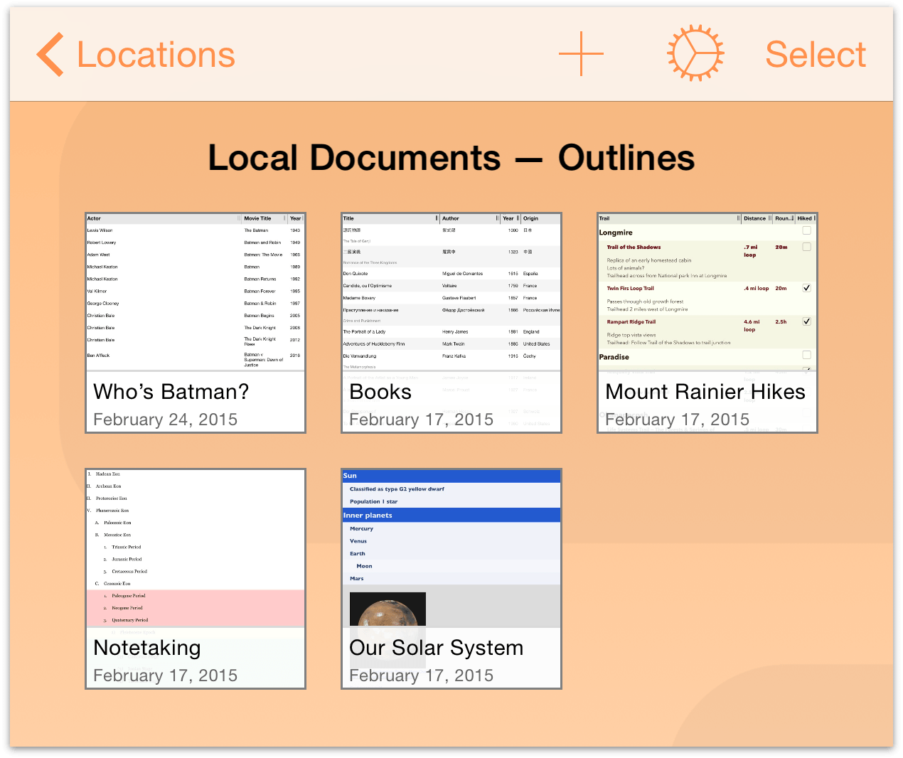 omnioutliner templates ebook database