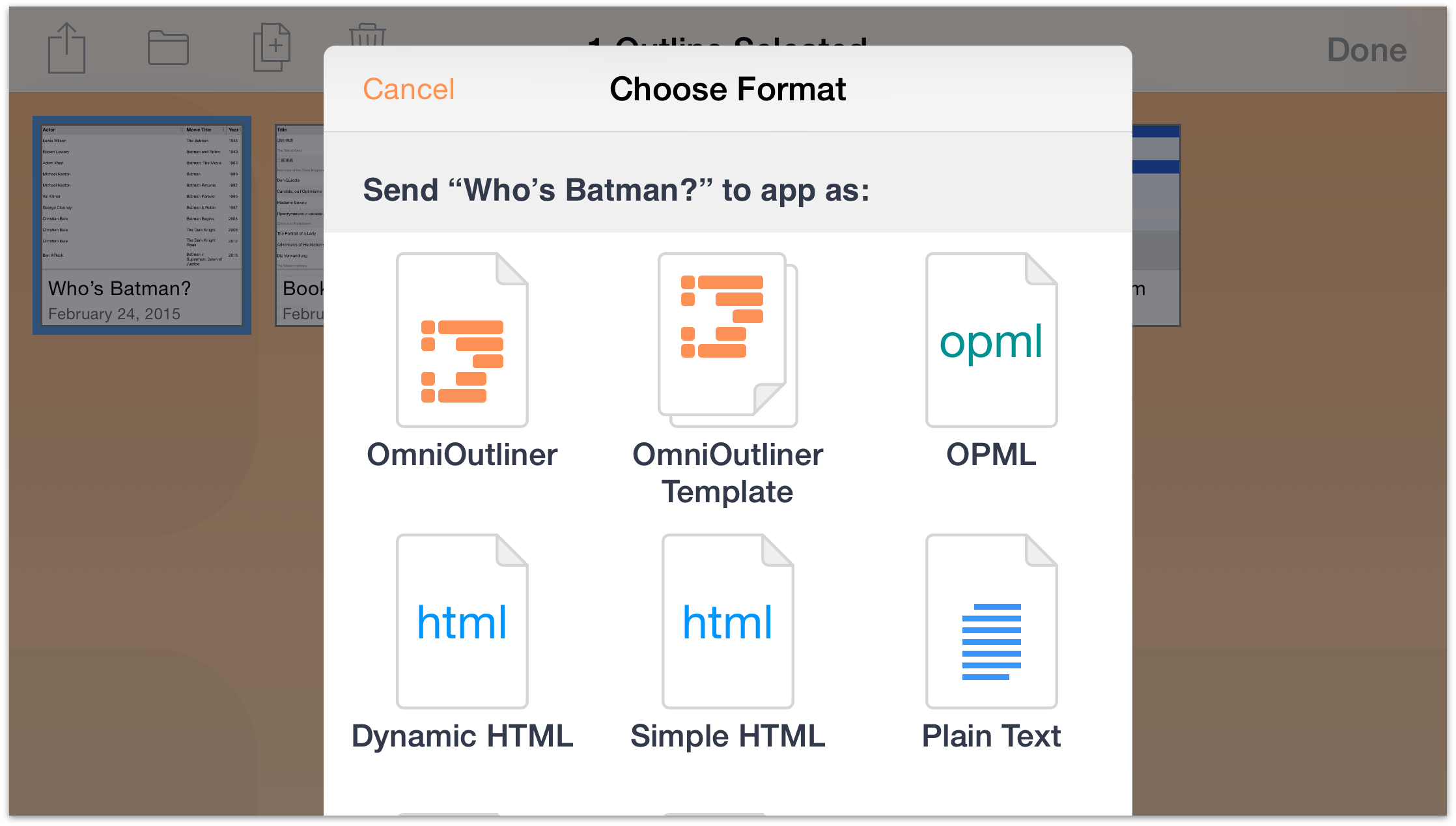 Omnioutliner 2 7 for ios user manual managing files with for Omnioutliner templates