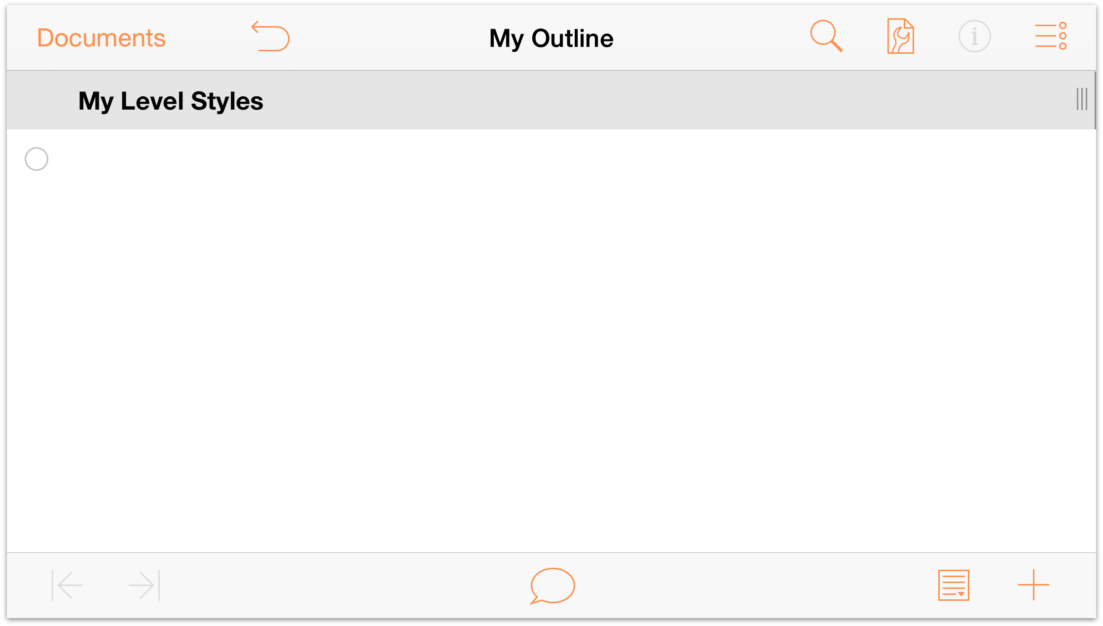 Omnioutliner 2 7 for ios user manual working with for Omnioutliner templates