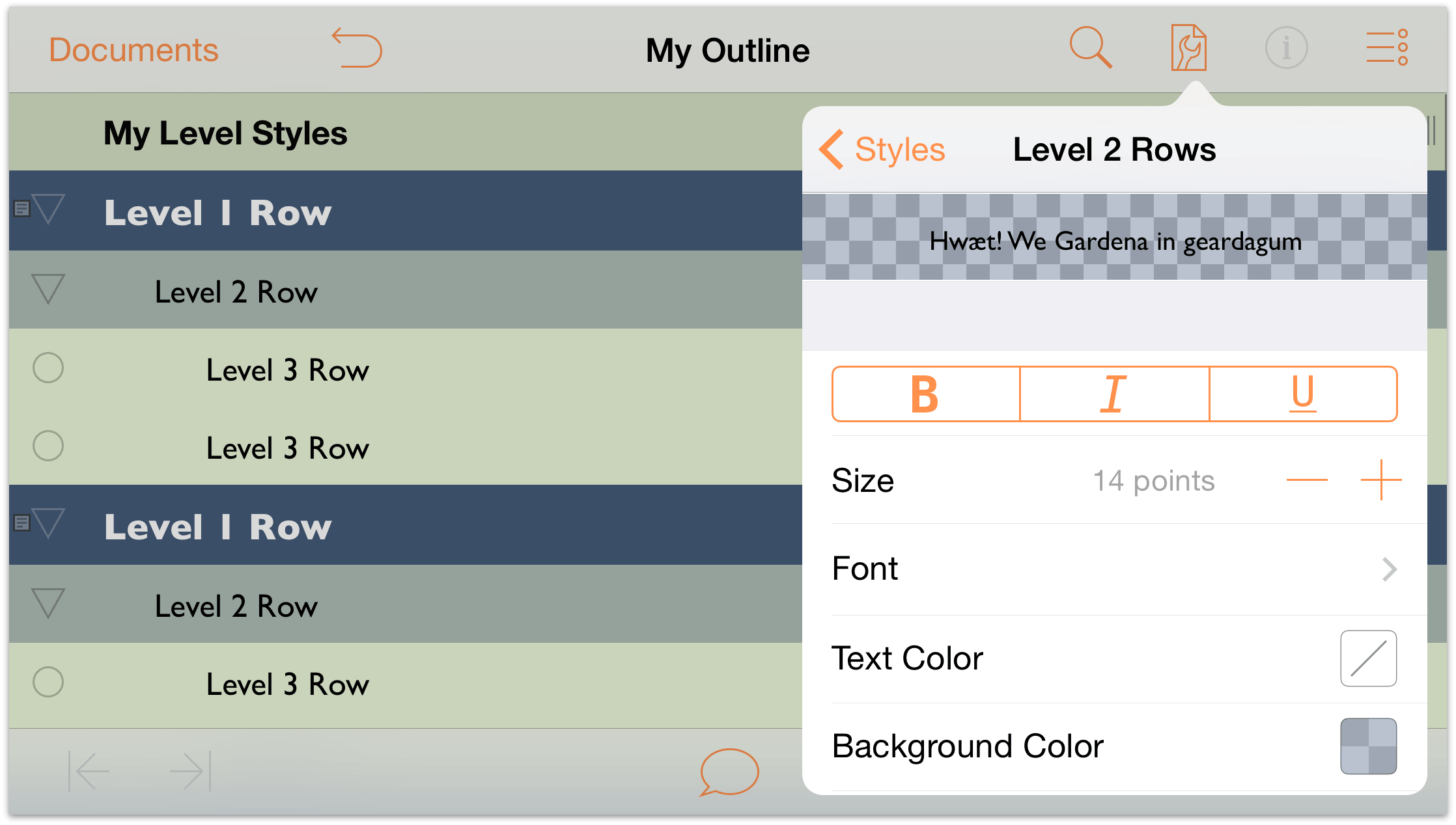 omnioutliner 2 7 for ios user manual working with templates and