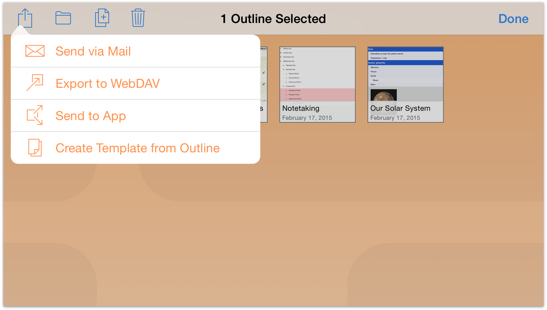 Omnioutliner 2 9 for ios user manual managing files with for Omnioutliner templates