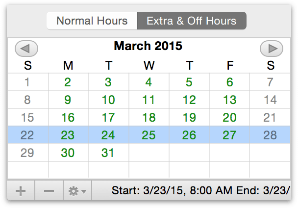 how to change project calender to 24 hours