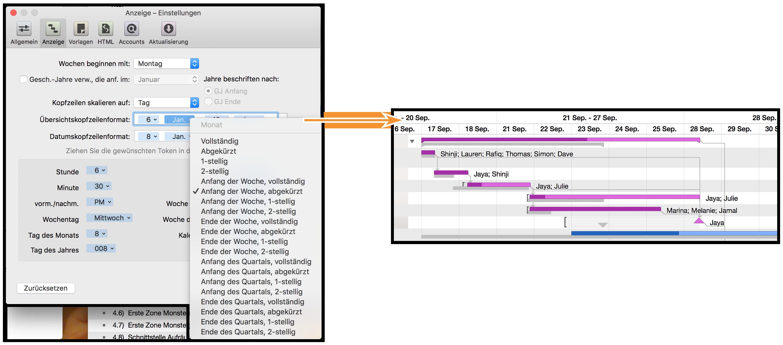 OmniPlan 3 für Mac-Benutzerhandbuch – OmniPlan-Einstellungen