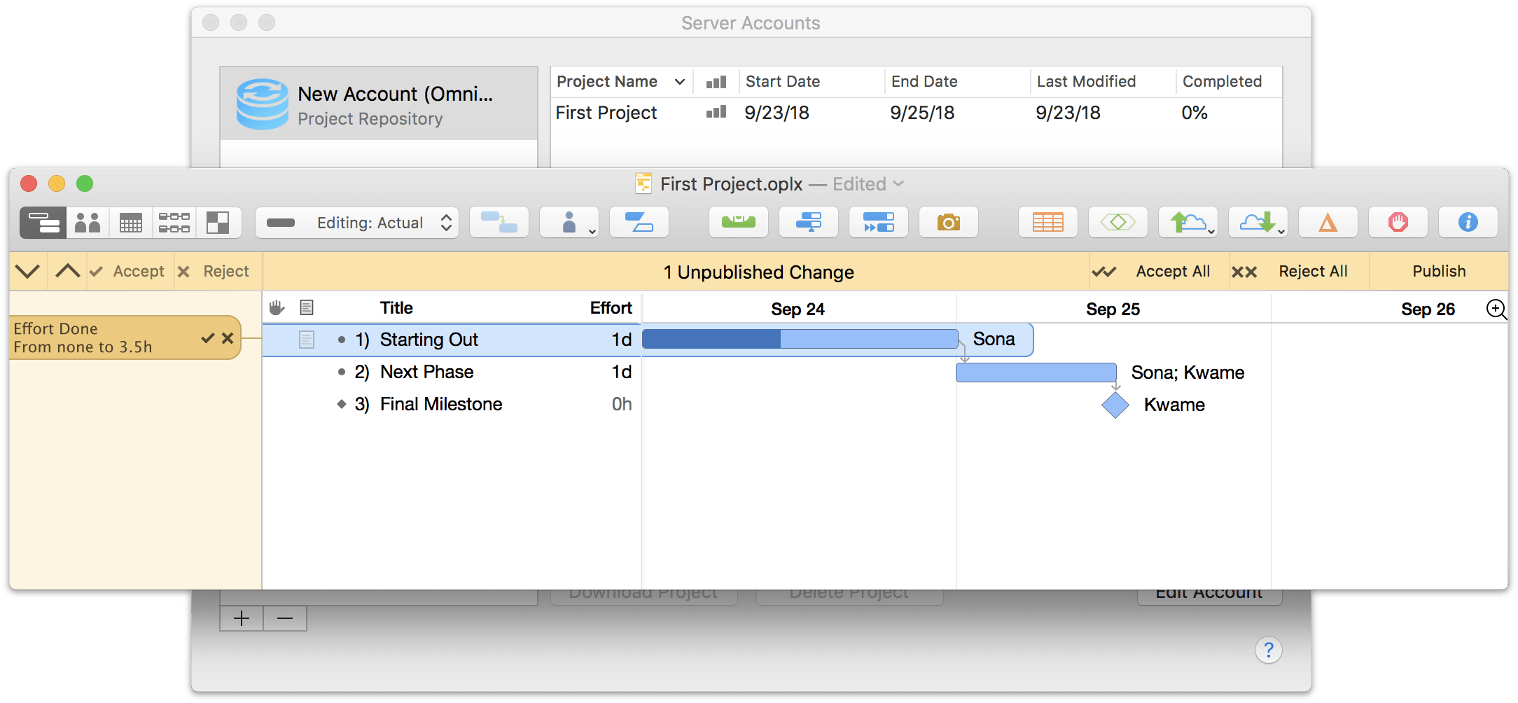 Setting up sharing options for a project in OmniPlan 3.10 for Mac, Step 5.