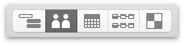 Switching to Resource View with the View Switcher in the toolbar.